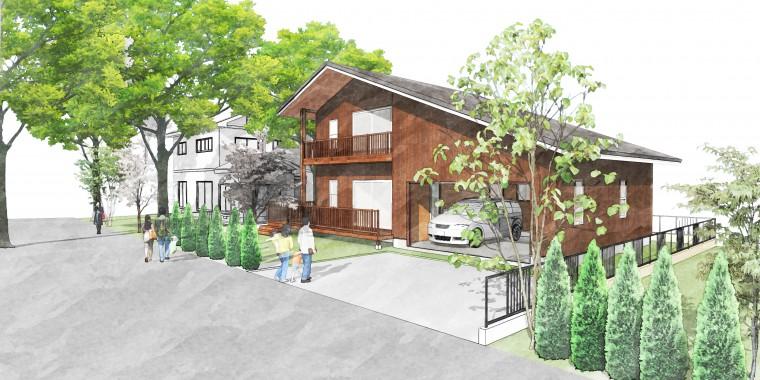 3/19-20 印西市草深 2棟同時完成見学会 「車をこよなく愛する方のためのアメリカ西海岸スタイルで造るデザイン住宅」