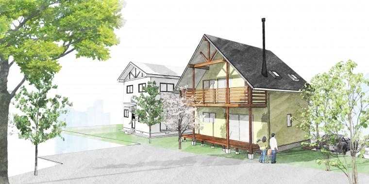 3/19-20 市原市ちはら台東 2棟同時完成見学会 「山小屋とDIYと薪ストーブをこよなく愛する家族の家」