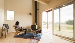 田園風景を見渡す家